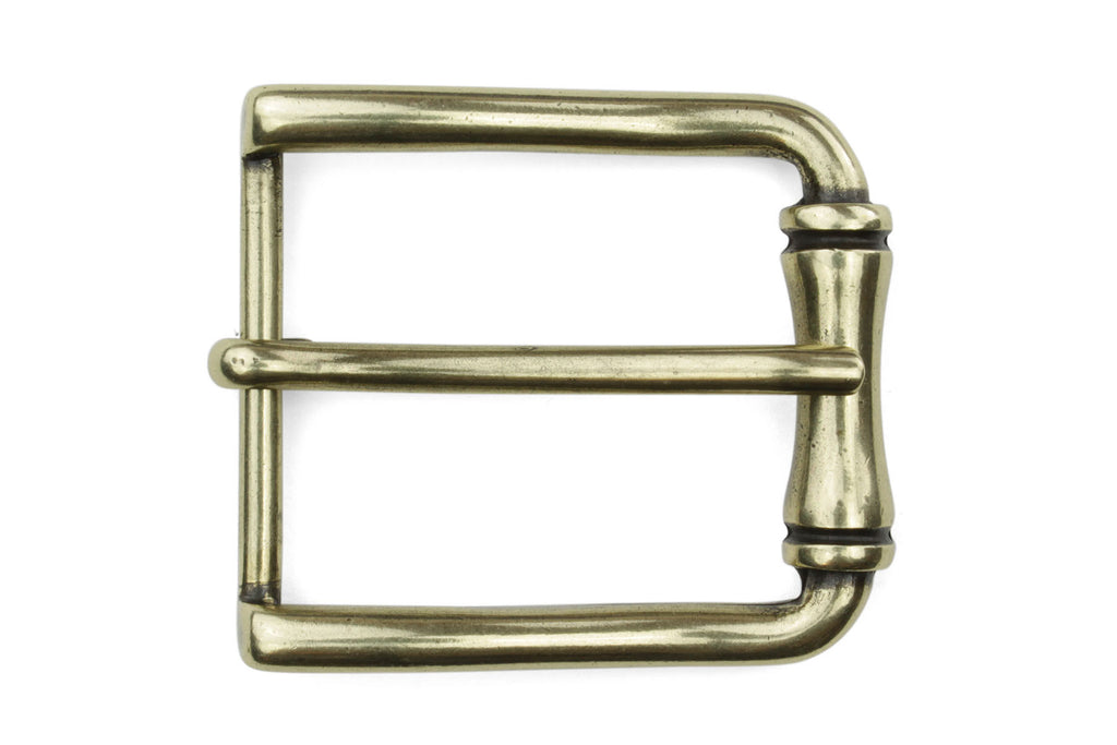 Aged Gold Bamboo Roll Buckle 35mm
