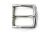 Silver kinked edge prong buckle 35mm