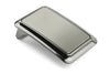 Scooped Edge Gunmetal Plate Buckle 35mm