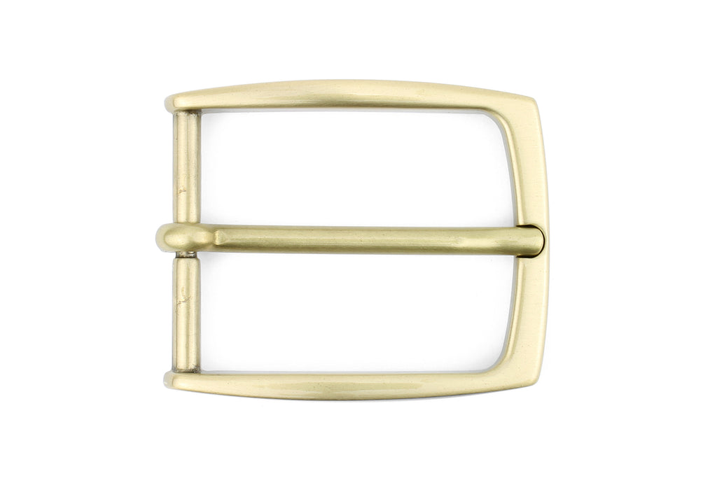 Slim Profile Satin Gold Rectangular prong Buckle 35mm