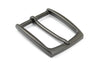 Slim Profile Lacquered Gunmetal Rectangular prong Buckle 35mm