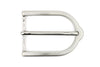 Satin Silver Smart Stirrup Prong Buckle 35mm