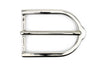 Shiny Gunmetal Stirrup Prong Buckle 35mm
