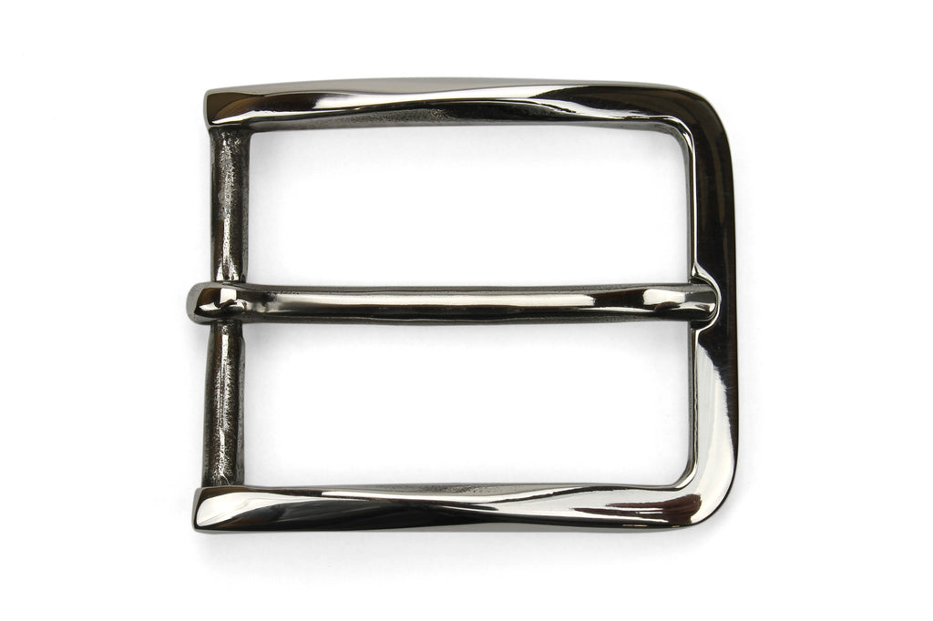 Sculpted Edge Polished Stainless Steel Buckle 35mm