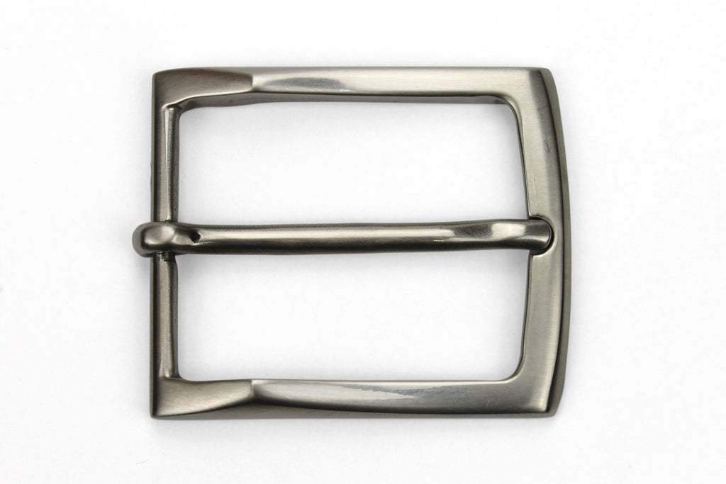 Kinked Edge Satin Finish Stainless Steel Buckle 35mm