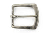Satin silver finish flare edge buckle 35mm