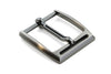 Satin Gunmetal Front Cut Prong Buckle 35mm