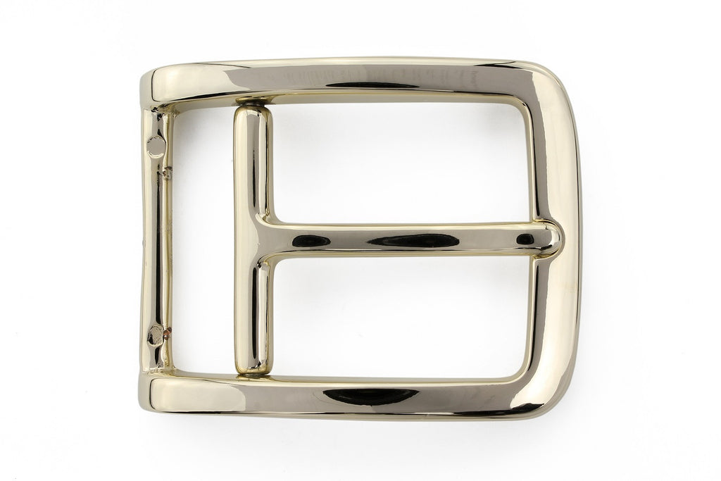 Pale gold stirrup prong buckle 35mm