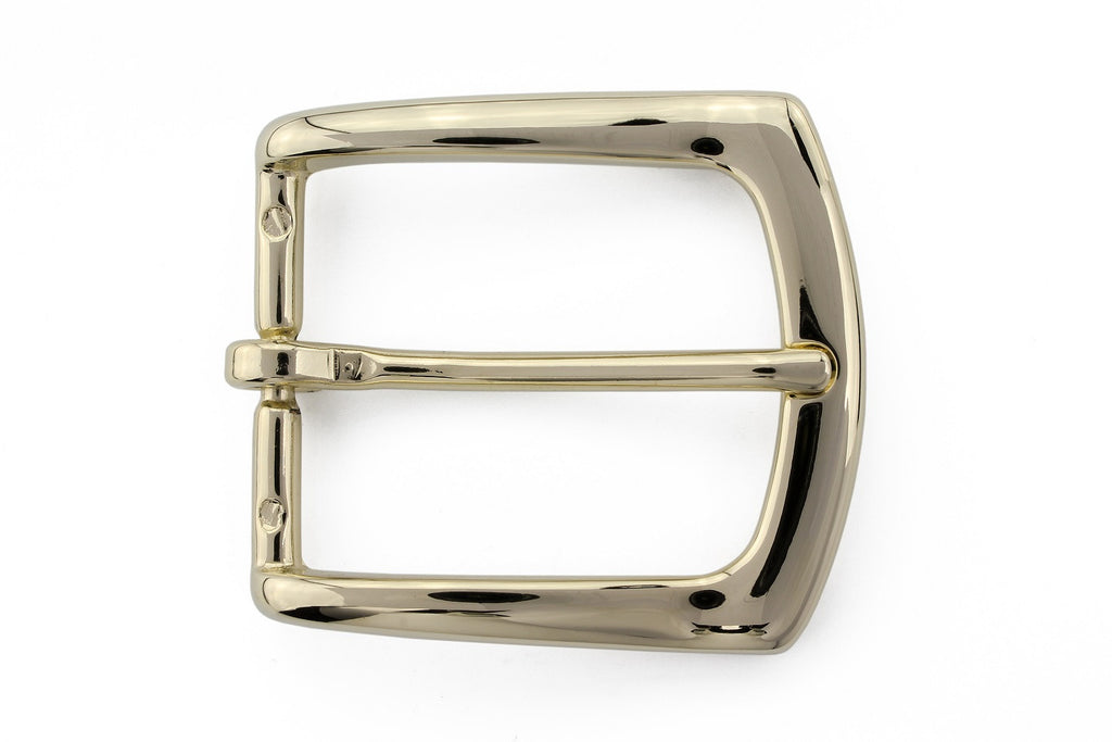 Light gold flare edge buckle 35mm