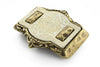 Laser cut genuine cream horn buckle 40mm