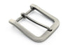 Satin gunmetal smooth rectangle buckle 40mm