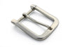 Shiny silver smooth rectangle buckle 40mm
