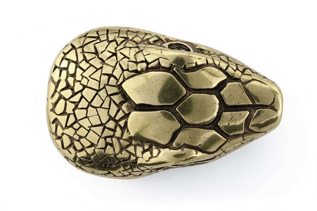 Aged gold snakehead buckle 40mm
