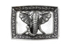 Aged Silver Elephant Frame Buckle 40mm