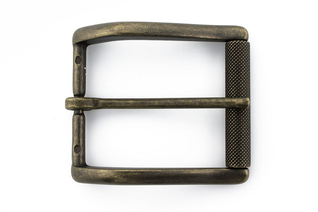 Matt antique brass roller buckle 40mm