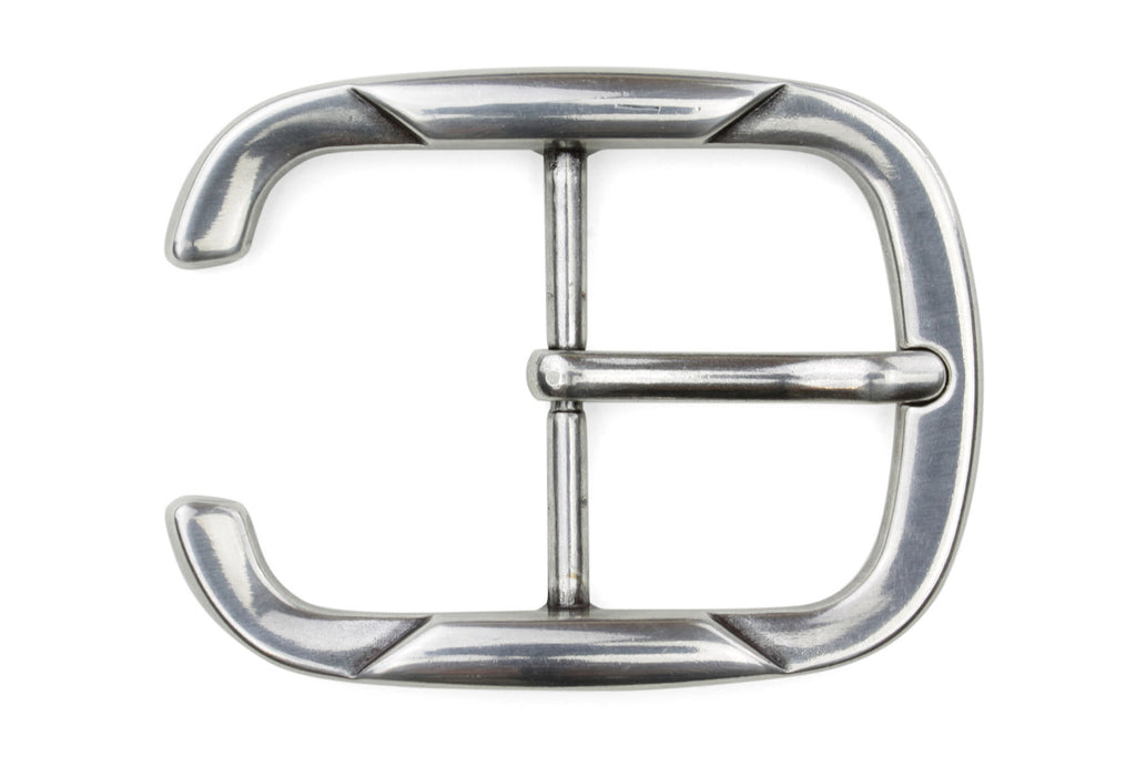 Silver Reverse C Sculpted Buckle 40mm