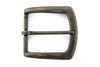 Antique brass flare edge buckle 40mm