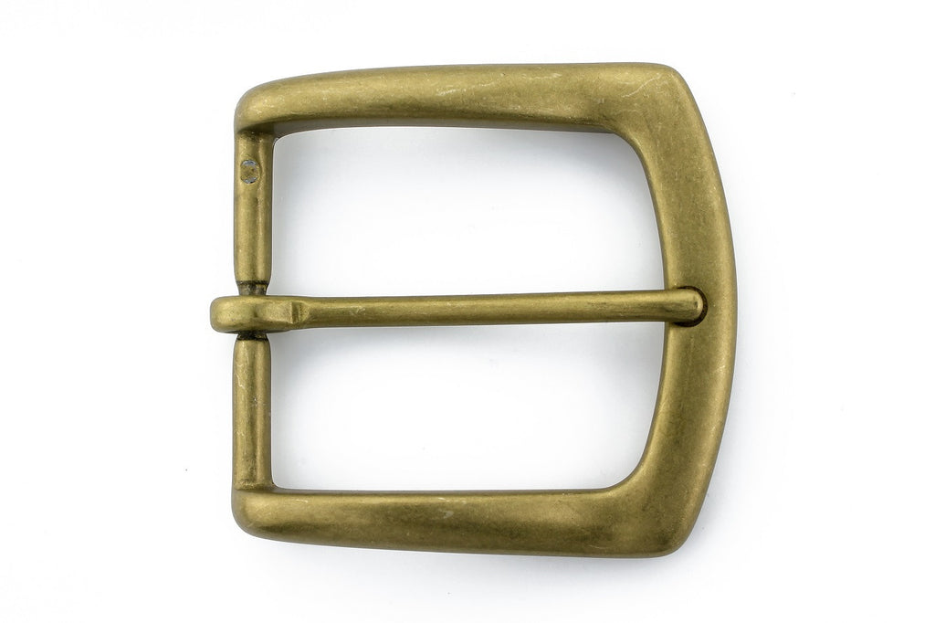 Antique gold flare edge buckle 40mm