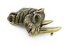 Aged gold rhinoceros buckle 40mm