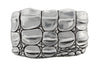 Silver caiman plate buckle 40mm