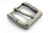 Distressed silver beaten effect buckle 40mm