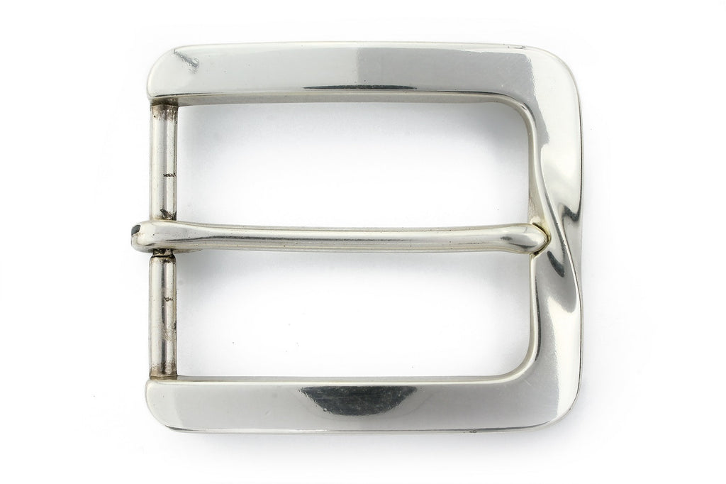 Silver finish twist buckle 40mm