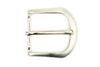 Soft Edged Satin Gold prong Buckle 40mm