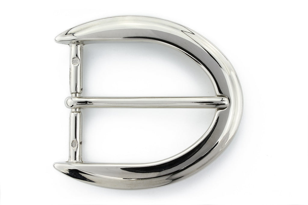 Shiny silver reverse C buckle 40mm