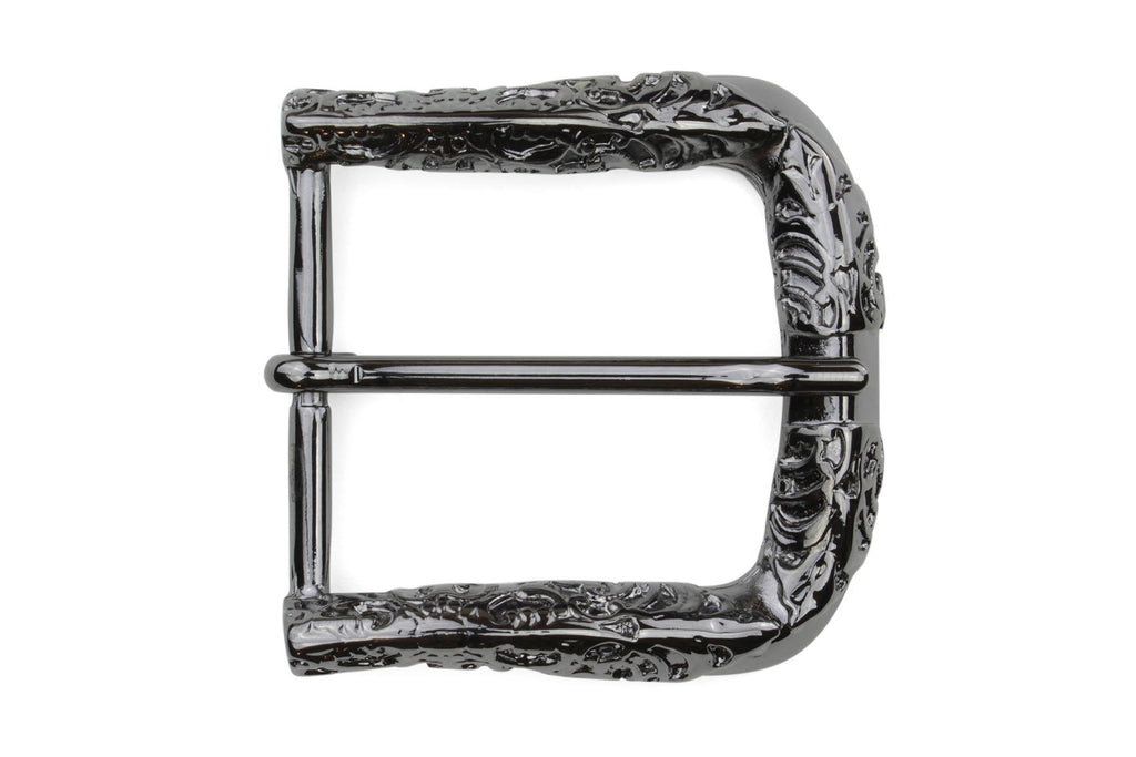 Gunmetal Filagree Prong Buckle 40mm