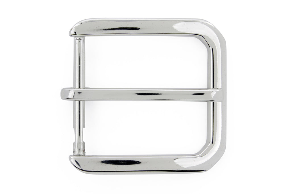 Silver hexagon prong style buckle 40mm