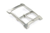 Satin Silver Window Style Buckle 40mm