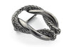 Gunmetal rope oval buckle 40mm