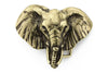Aged gold elephant head buckle 40mm