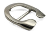 Satin Silver Reverse C Horseshoe Design Buckle 40mm