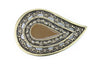 Paisley Enamel Aged Gold Buckle 40mm
