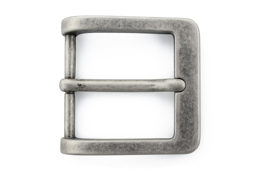 Aged nickel prong buckle 40mm