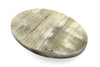 Natural Pale Horn Oval Buckle 40mm