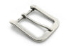 Aged silver smooth rectangle buckle 40mm