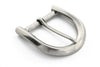 Aged silver c shaped buckle 40mm
