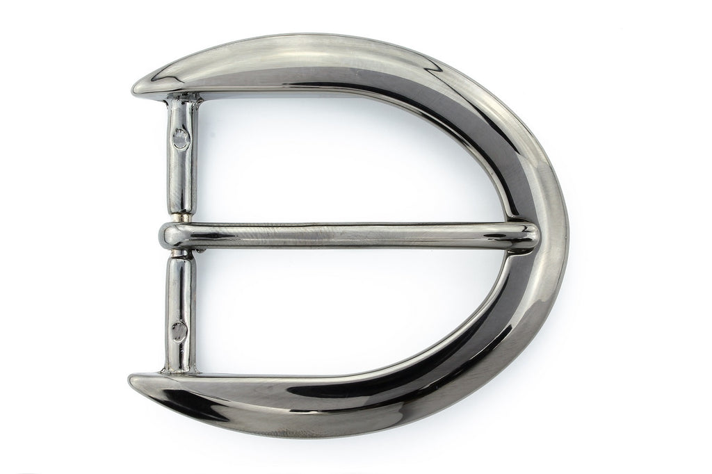 Shiny gunmetal reverse C buckle 40mm