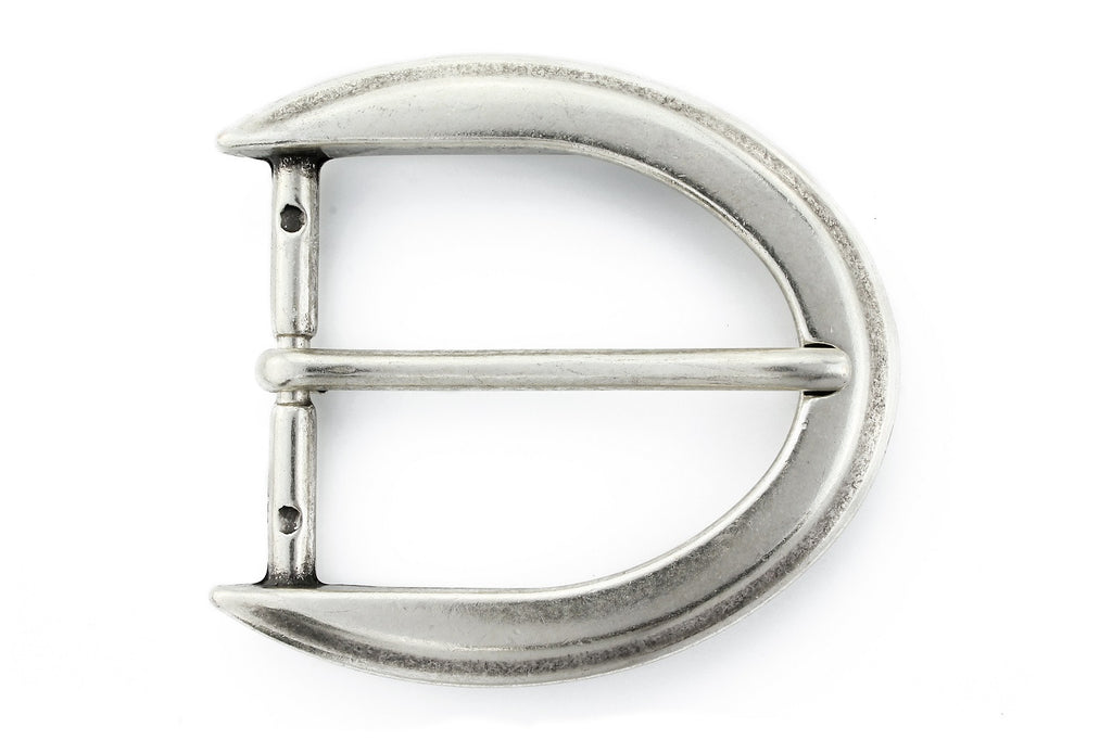 Aged silver reverse C buckle 40mm
