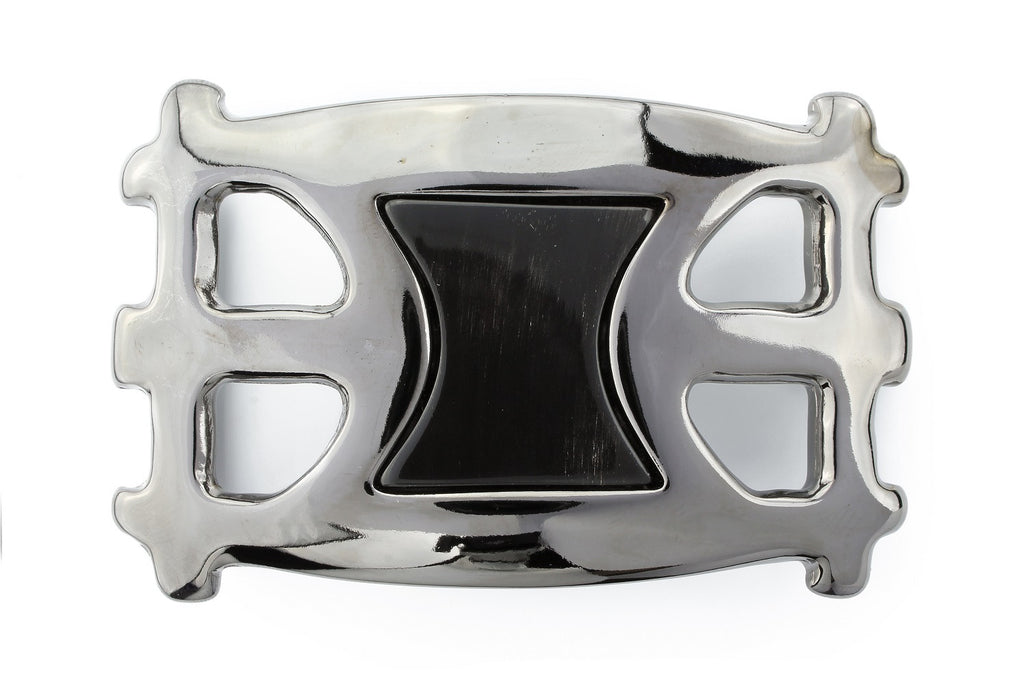 Sculptural gunmetal horn insert buckle 40mm