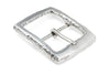 Gnarled Edge Special Silver Centre Prong Buckle 40mm