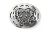 Aged silver oval dragon motif buckle 40mm