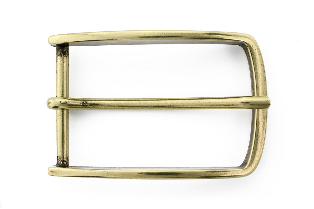 Aged gold slimline prong buckle 40mm