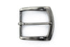 Satin gunmetal flare edge buckle 40mm
