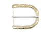 Smooth / Dimple Texture Bleached gold Curved Prong Buckle 40mm