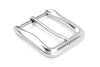 Scalloped Edge Special Silver Prong Style Buckle 40mm