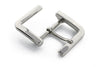 Shiny Silver Contemporary Viewfinder Buckle 40mm