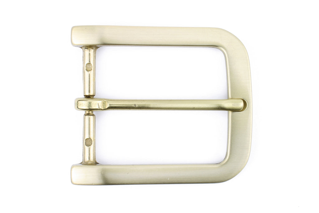Satin Gold Smooth rectangle Buckle 40mm